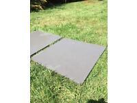 Beautiful riven slate floor tiles 400x400mm