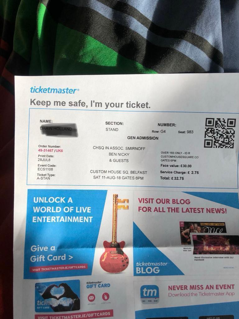 Ben Nicky ticket | in Ravenhill, Belfast | Gumtree