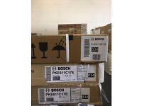 Job Lot 3 x Bosch Black Electric Hobs *Spares or Repair*