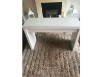 White ikea malm dressing table