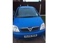 Blue Vauxhall meriva