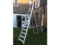 10 step / 8ft sturdy but light weight aluminium step ladder