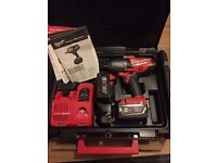 "Milwaukee M18 CHIWF12 18v FUEL 1/2"" Impact Wrench 5Ah Battery - BRAND NEW"
