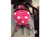 Minnie Mouse Toddler reins backpack