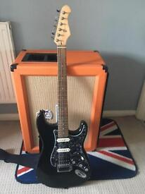 Aria ST electric guitar with modifications