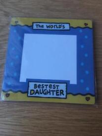 The worlds bestest daughter photo frame *new*