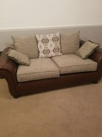 A 3 seater solid orleans sofa and love arm-chair orleans sofa