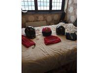 3 motorbike helmets
