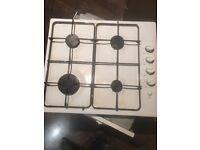 White Gas Hob - 1 Year Old - Clean
