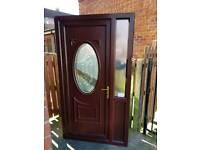 Used pvc woodgrain door white on inside