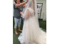 Beautiful wedding dress ivory with blush tones