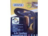 Draper 3.6v cordless screwdriver kit No36217