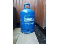 15kg Butane Gas Bottle and Regulator (almost full), Calor BBQ