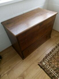 Antique Oak Box with Drawer