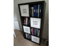 Bookcase and 4 associated boxes