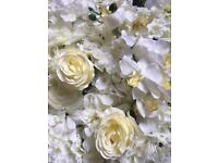 Flower Wall for Hire - stunning white/cream roses, peonies, hydrangeas and more! 2.4x2.4m £240