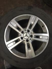 """Mercedes ML 18"""" alloy wheels x4"""
