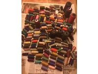 Sewing threads, job lot. Large and small