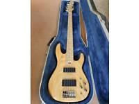 Natural ESP LTD 5 String Surveyor Bass Guitar With Hard Case