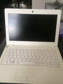 White Lenovo laptop