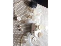 Hospital grade Ameda Lactaline dual pump and accessories