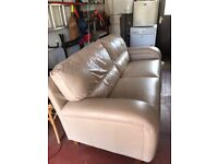3 seater leather couch free to anyone. It does have some cat scratches on the arms.