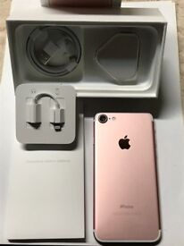Apple iPhone 7 - 128GB - Rose Gold (Unlocked) Excellent Condition. Looks Very New