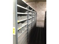 JOB LOT 30 bays of dexion impex industrial shelving 2.4m high ( storage , pallet racking )