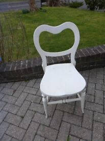 SMALL VINTAGE WOODEN PAINTED OCCASIONAL CHAIR