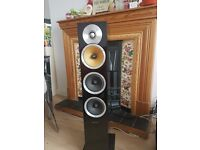 Bowers and Wilkins CM8 flore standing speakers black