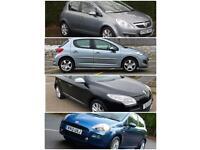Corsa, Punto, Peugeot 207 etc