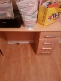 Dressing table with bedside cabinet