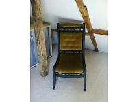 Nursing chair for sale - genuine Victorian piece