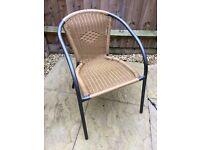6 x Wicker Garden Chairs