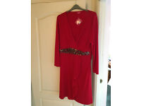 Together dress (from Kaleidoscope) Size 22 red, embellished - never worn, with tags