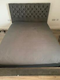 Grey King Size Bed