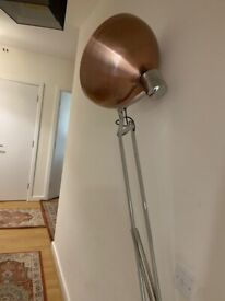 For Sale Beautiful tall elegant copper floor lamp. Retro stylish like new bought fromHome sense