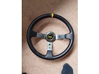 OMP Dished Leather Wheel