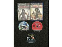 PS2, PlayStation 2 Games Bundle (Prince of Persia 1,2,3, Sonic Riders, Cars)