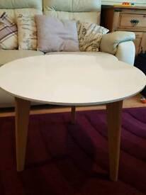 White modern high gloss side table