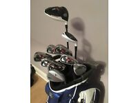 Golf clubs and bag, irons 5-pw, driver, hybrid and more