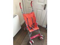 Redkite Summer Umbrella Child Ultralight Pushchair Buggy Stroller Red Orange