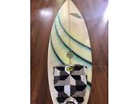 Nutz Surfboard, includes Gorilla Tail Pad, FCS fins, Leash and Board Sock