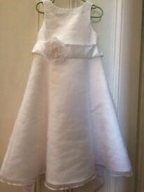 John Lewis flower girl Organza dress ivory £15 age4