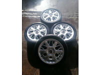 "Rover 75 17"" Alloy Wheels With Tyres 225/45/17"