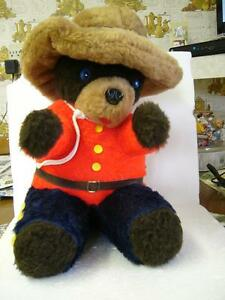 RCMP GRC Royal Canadian Mounted Police PLUSH STUFFED BEAR