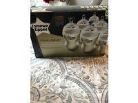 NEW Tommee Tippee Bottles + Nuby bottle + warm bottle holder