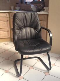 VERY COMFY BLACK LEATHER OFFICE CHAIR