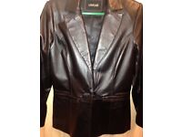 Ladies Real Leather Tailored Jacket