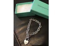 Genuine Tiffany & Co charm bracelet in good condition